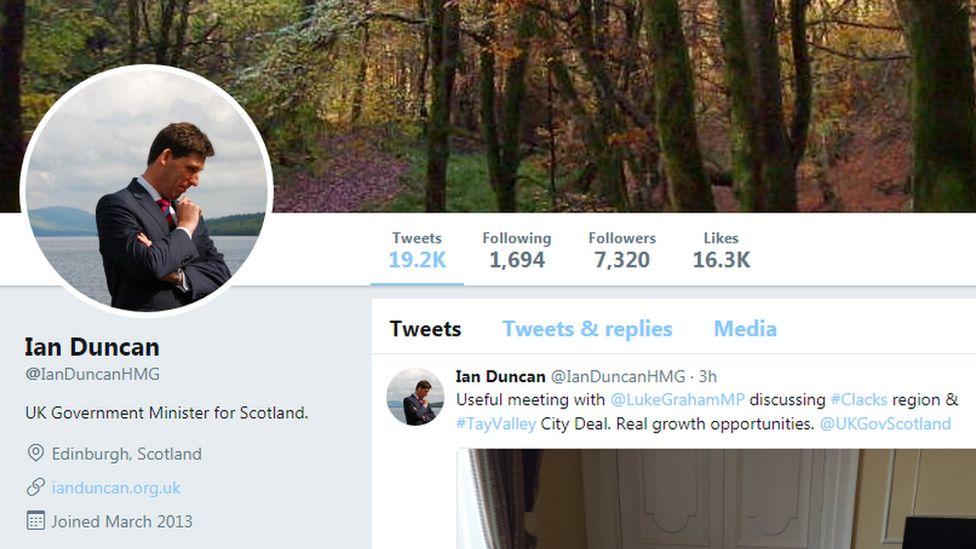 Ian Duncan Twitter homepage