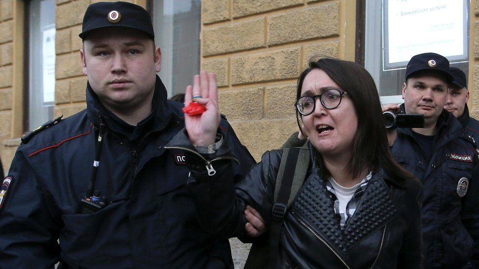 Russian LGBT rights campaigner Yelena Grigoryeva