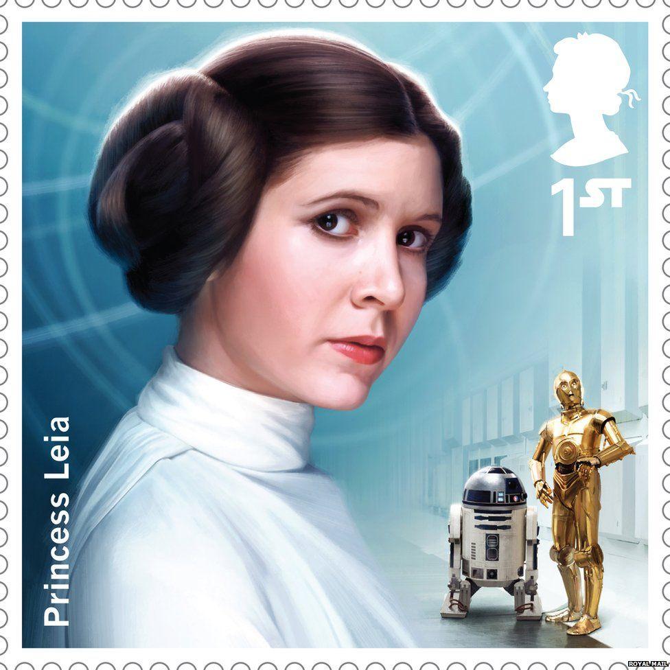 Princess Leia stamp