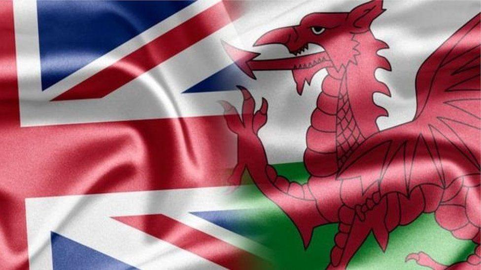 fflagiau Cymru Jac yr Undeb