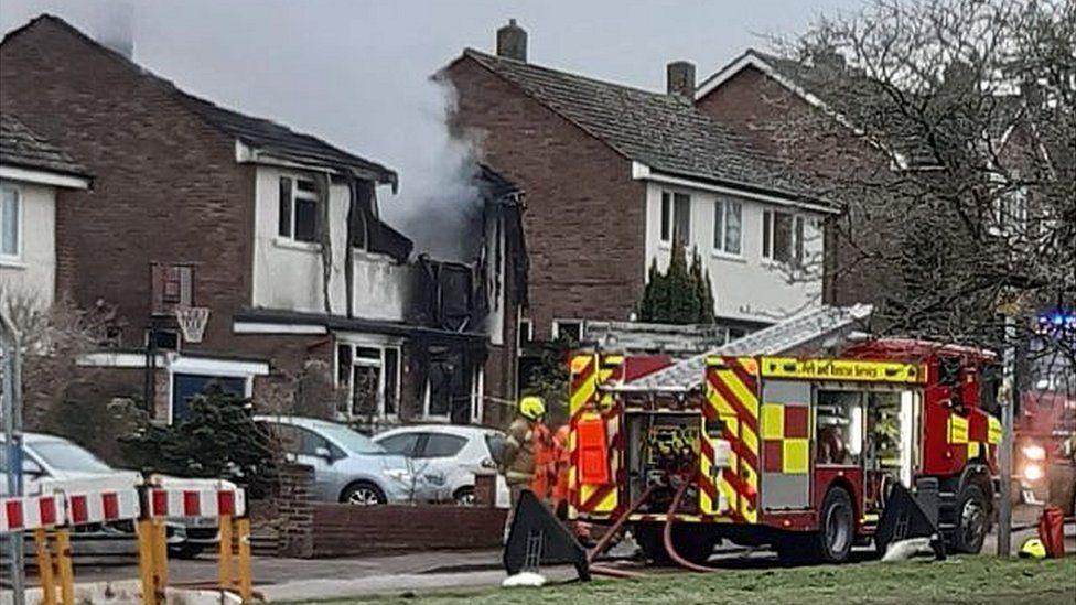 Fire at house in Saffron Walden