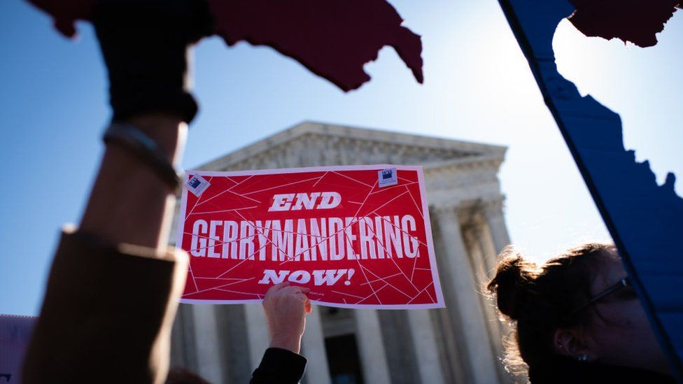 A Fair Maps Rally was held in front of the US Supreme Court on 26 March in Washington, DC