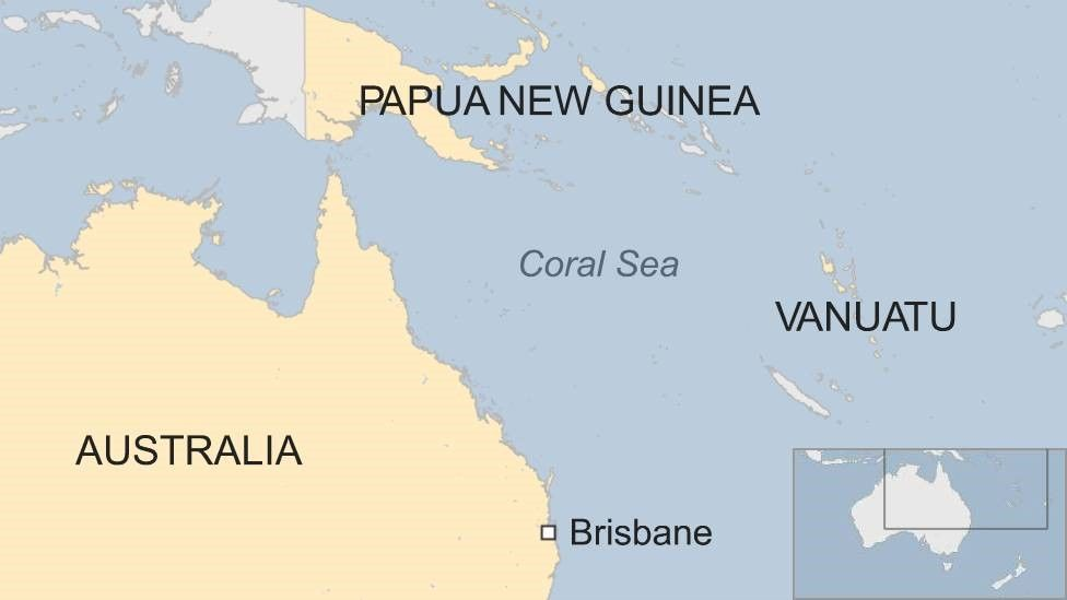 Map of Coral Sea
