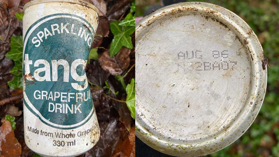 Can of Tango drink dating back to August 1986.