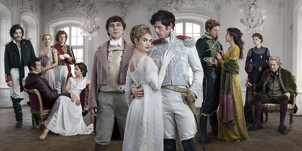 Publicity shot from BBC War And Peace series, showing main characters