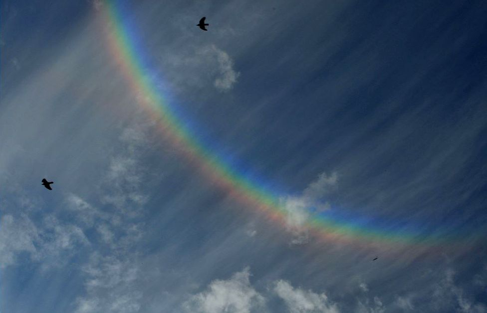 Upside down rainbow