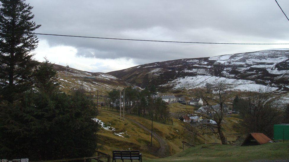 Wanlockhead is just a mile away from Leadhills