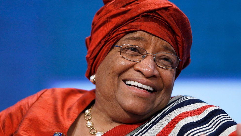 Ms Sirleaf in 2010