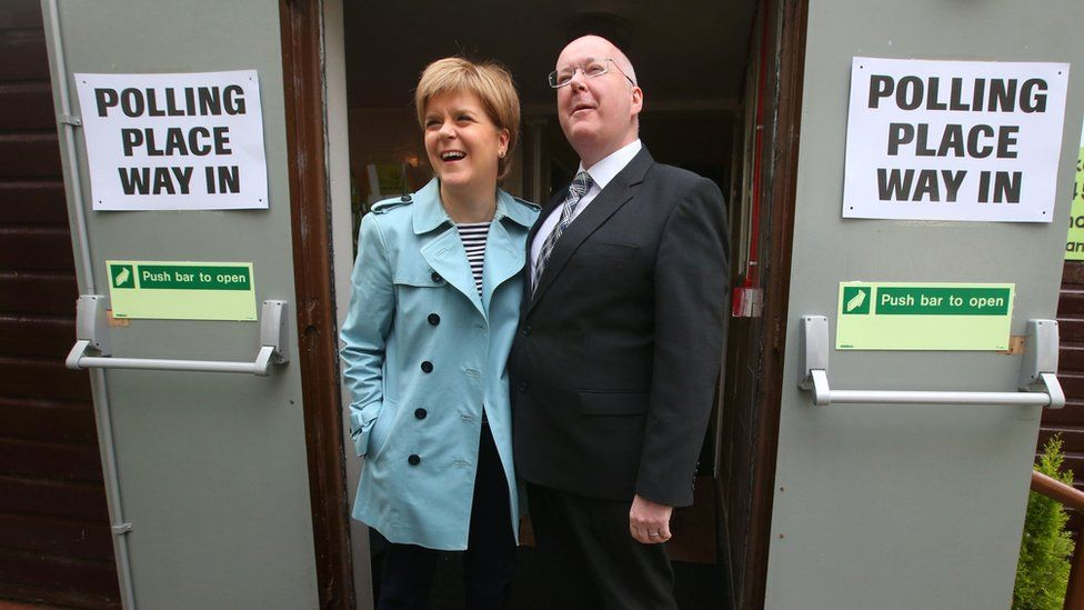 Nicola Sturgeon and Peter Murrell