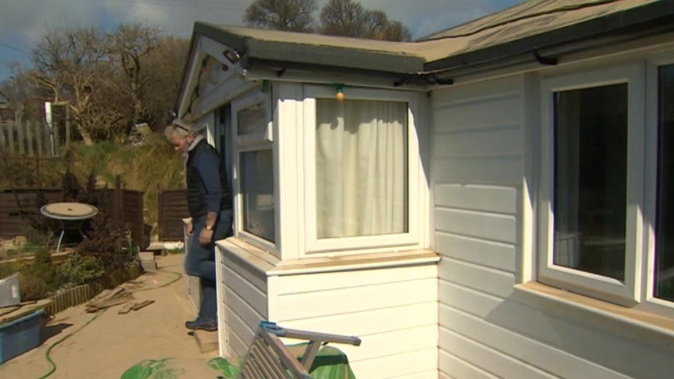Lance Martin at his chalet home in Hemsby