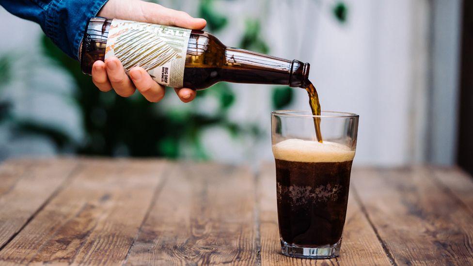 A Big Drop Brewing beer being poured