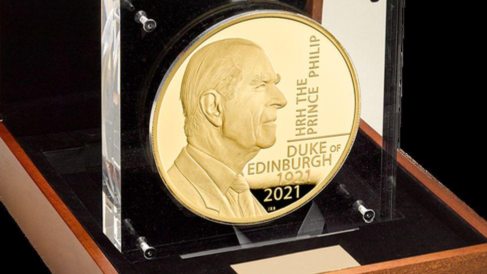 Coin bearing Ian Rank-Broadley's likeness of Prince Philip