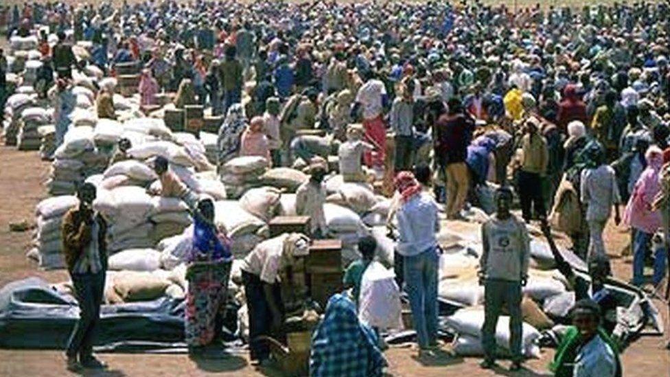 The refugee camp near Hartisheik in Ethiopia - archive shot