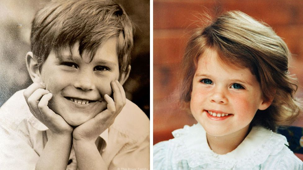 Jack Brooksbank and Princess Eugenie as children