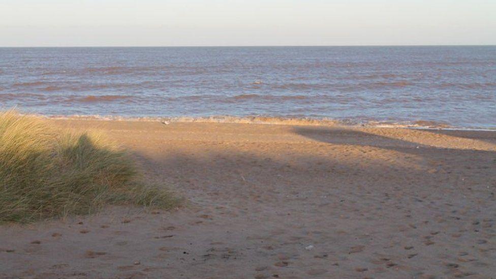 Beach south of Sutton on Sea