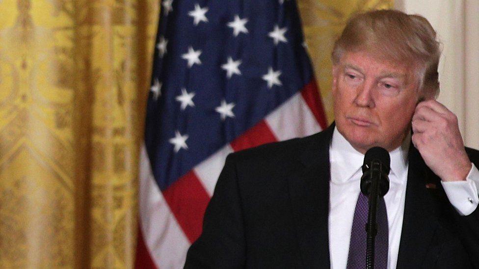 US President Donald J Trump