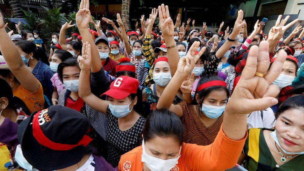 Image result for yangon protest
