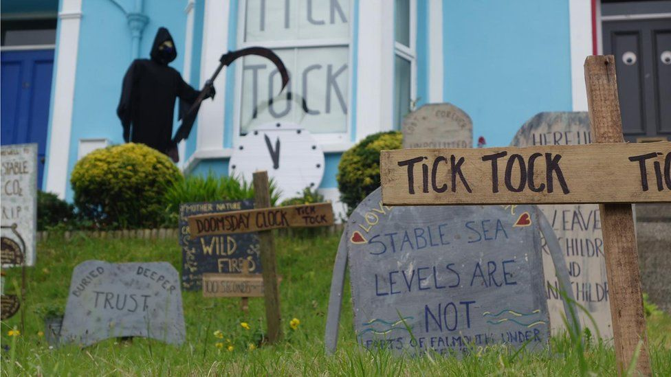 Falmouth Graveyard protest