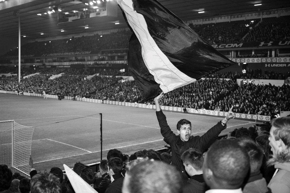 Waving a large flag