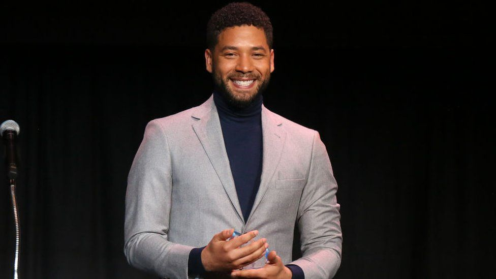 Mr Smollett speaking at the Children's Defense Fund California's 28th Annual Beat The Odds Awards