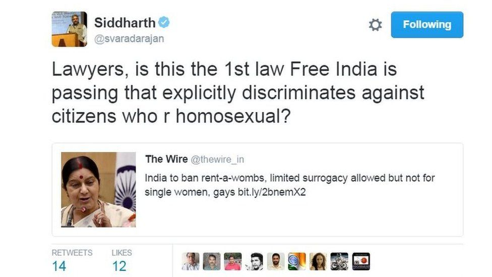Lawyers, is this the 1st law Free India is passing that explicitly discriminates against citizens who r homosexual?