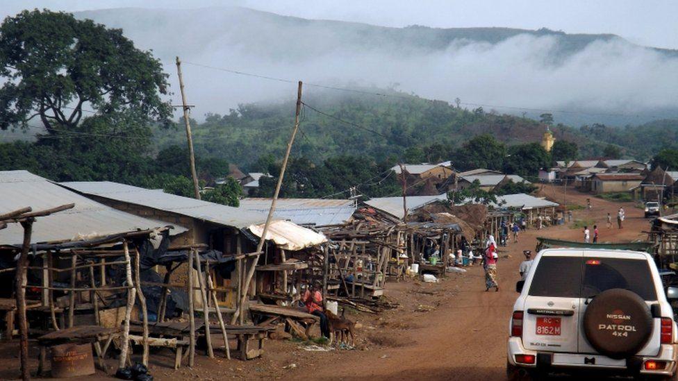 Mist shrouds the Simandou mountains in Beyla, Guinea, June 4, 2014