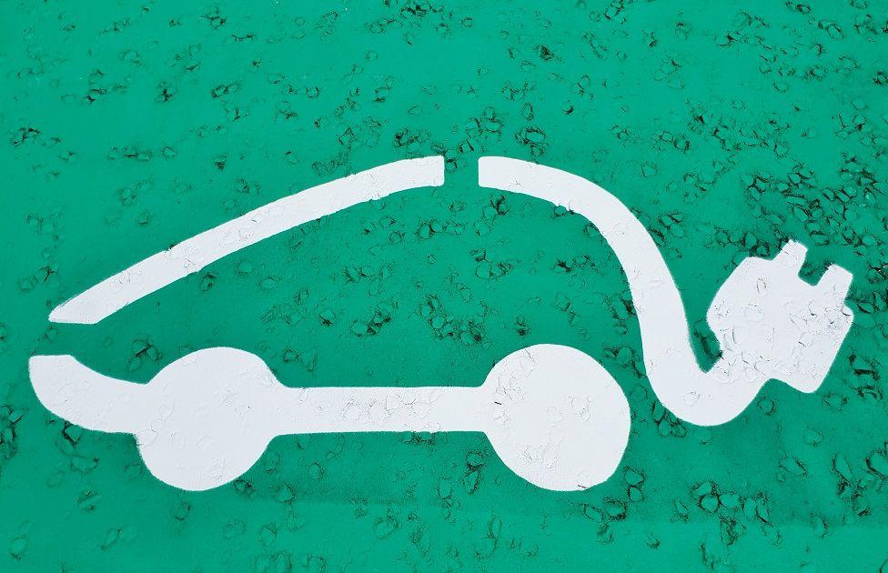 Electric vehicle symbol