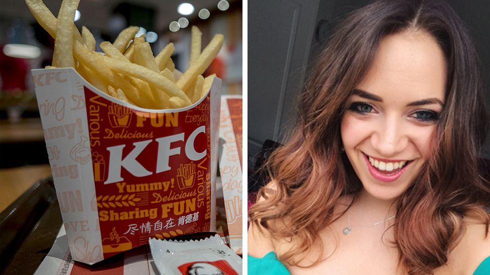 KFC chips and Charlie Burness