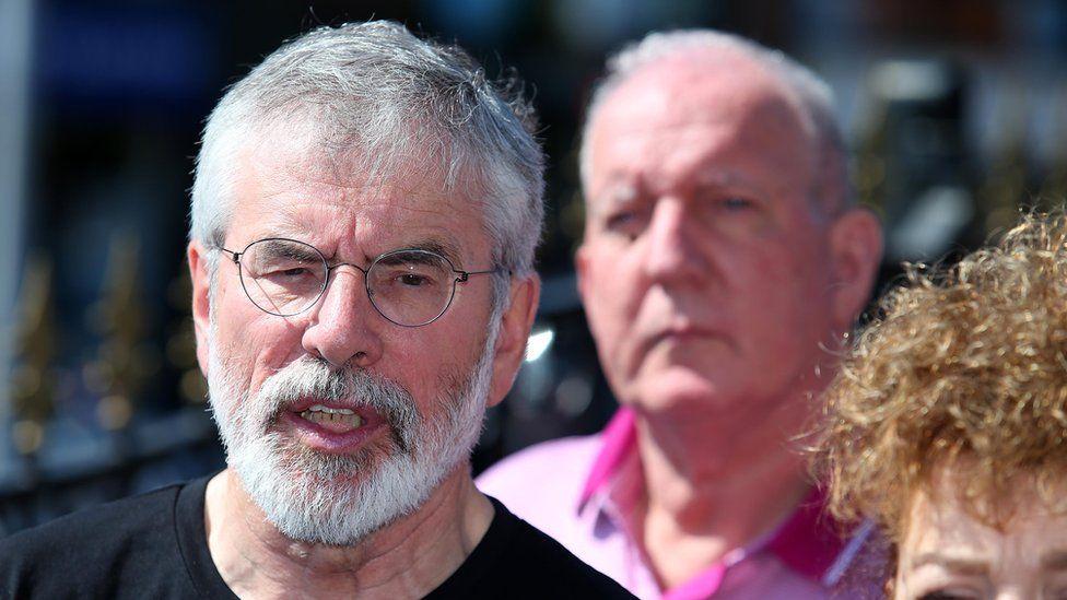 Gerry Adams and Bobby Storey