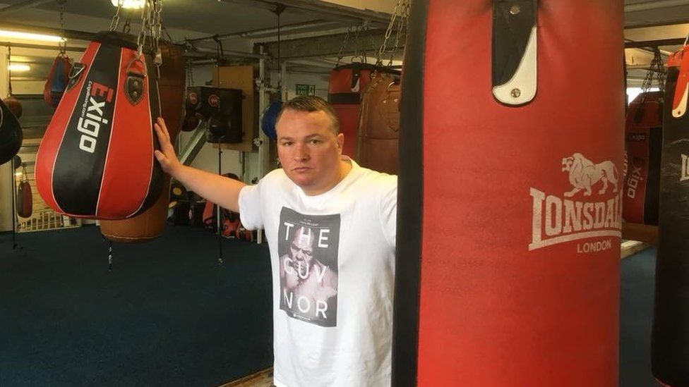 Bradley Welsh in boxing gym