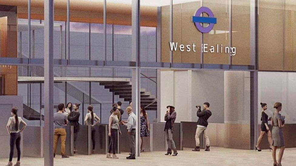 CGI of what the West Ealing station will look like