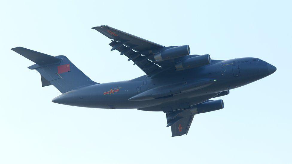 Y-20 strategic transporter at the Zhuhai airshow