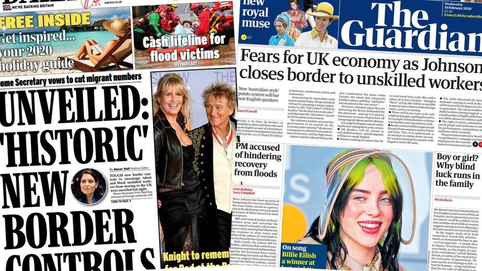 Daily Express and Guardian
