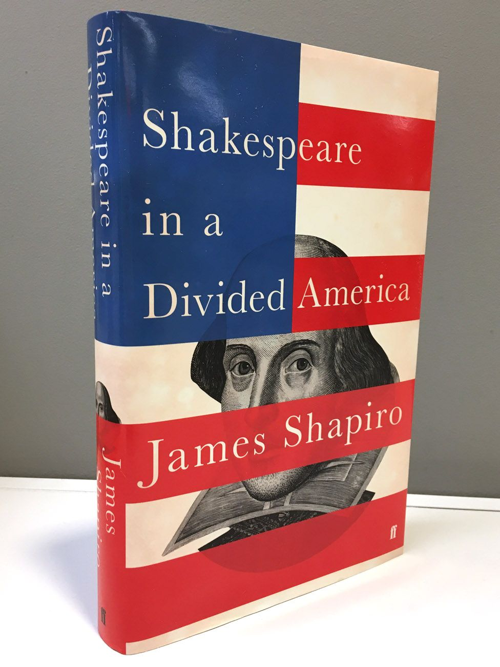 The front cover of Shakespeare in a Divided America by James Shapiro
