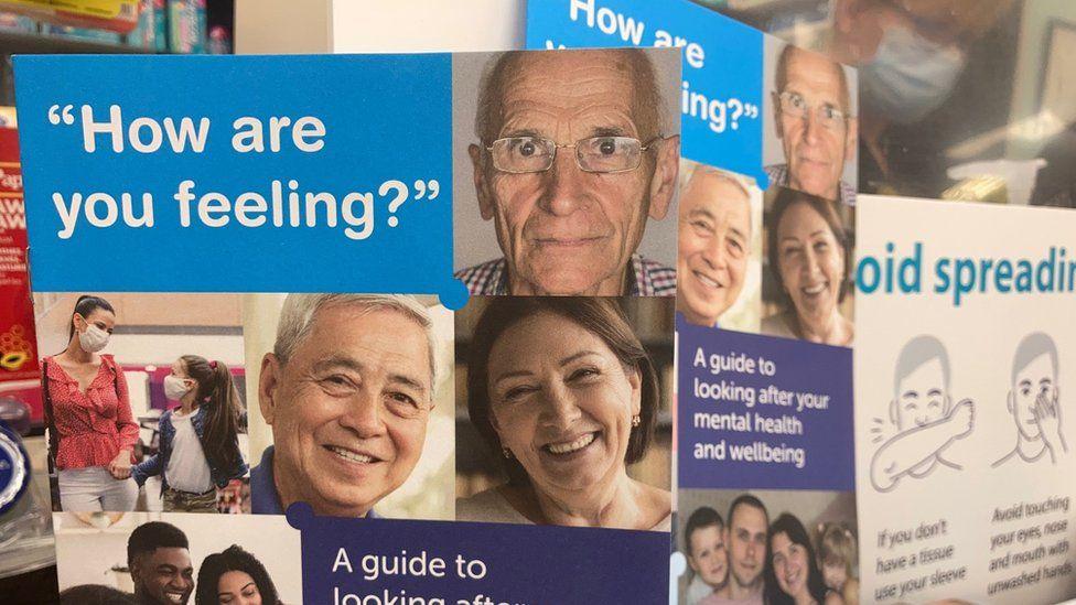 A mental health wellbeing leaflet
