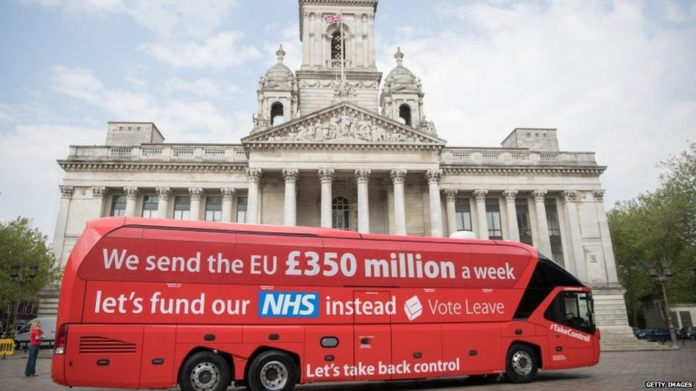 Vote Leave battle bus in Portsmouth