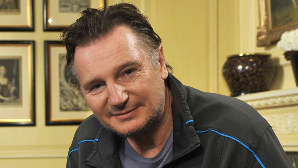 Liam Neeson during an interview for the Andrew Marr Show in 2012