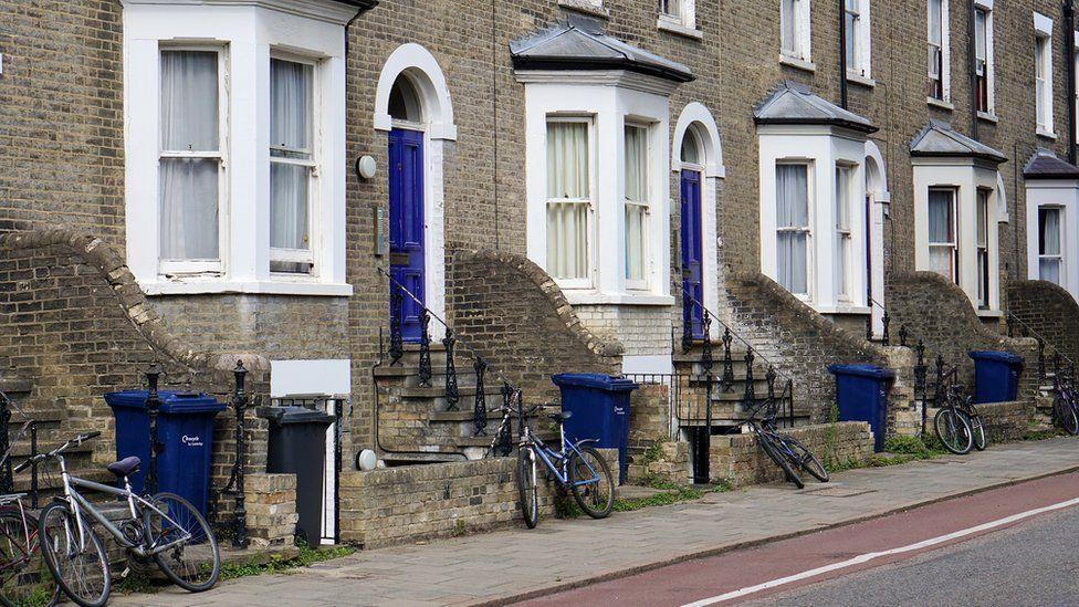 Bins outside houses