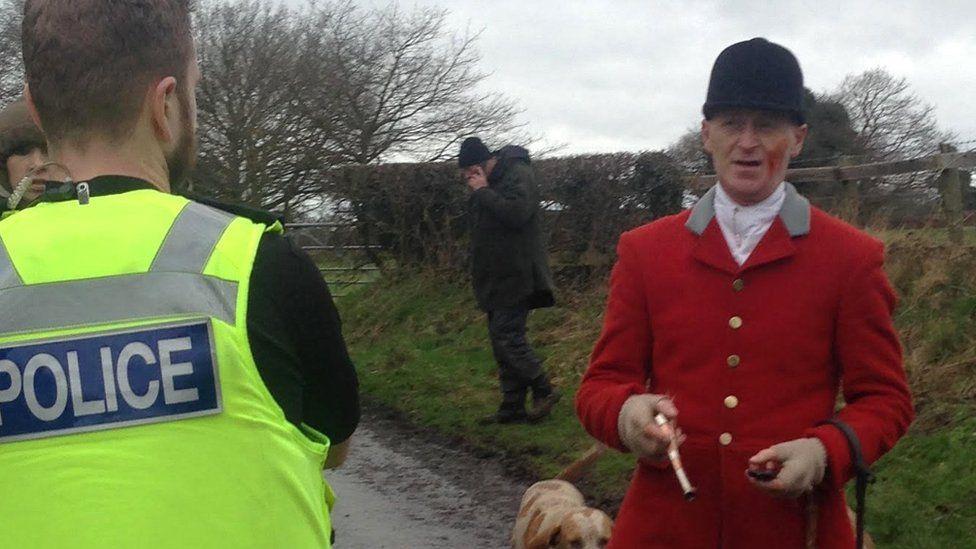 Police talk to huntsman in Macclesfield