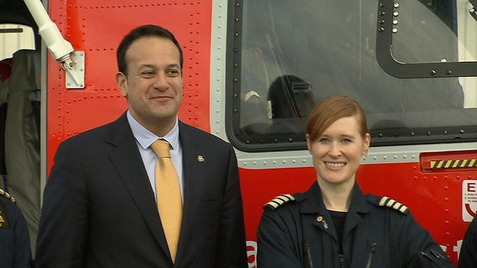 Captain Dara Fitzpatrick was previously photographed with the then Irish Minister for Transport, Leo Varadkar
