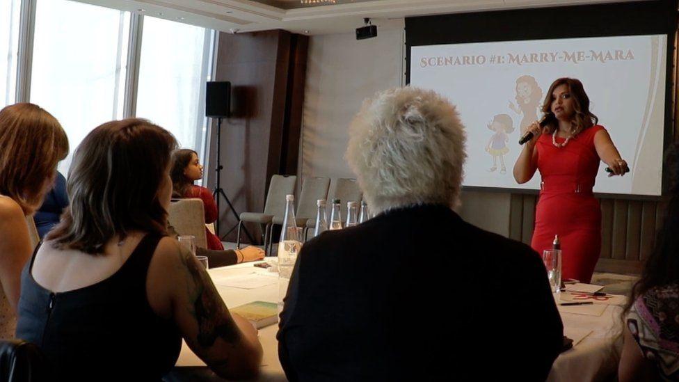 Sami Wunder giving a talk