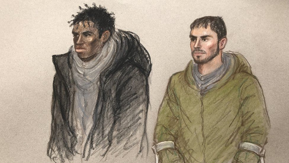Andre Phoenix (L) and Arthur Collins (R) in court
