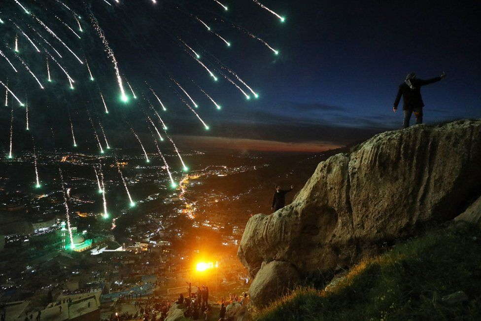 Kurdish families celebrate Nowruz, Kurdish New Year in the mountainous area around on Akre in Iraq. The festival in March marks the Persian New Year, as well as the vernal equinox and is celebrated by diverse communities across western and central Asia.