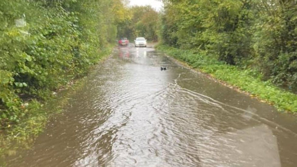 Flood water in Nuneaton