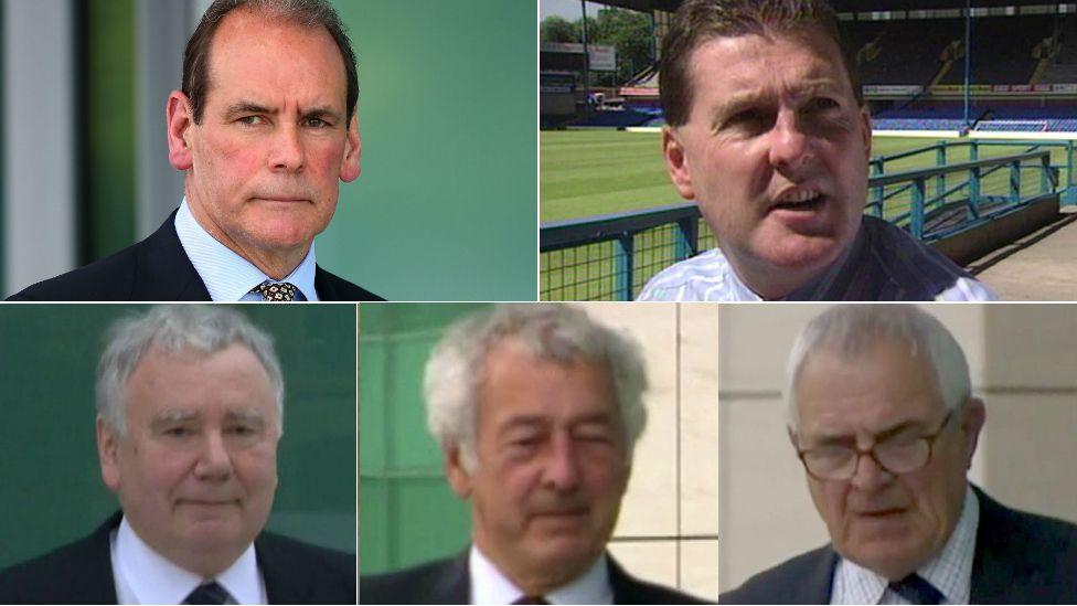 Sir Norman Bettison, Graham Mackrell, Peter Metcalf, Alan Foster and Donald Denton