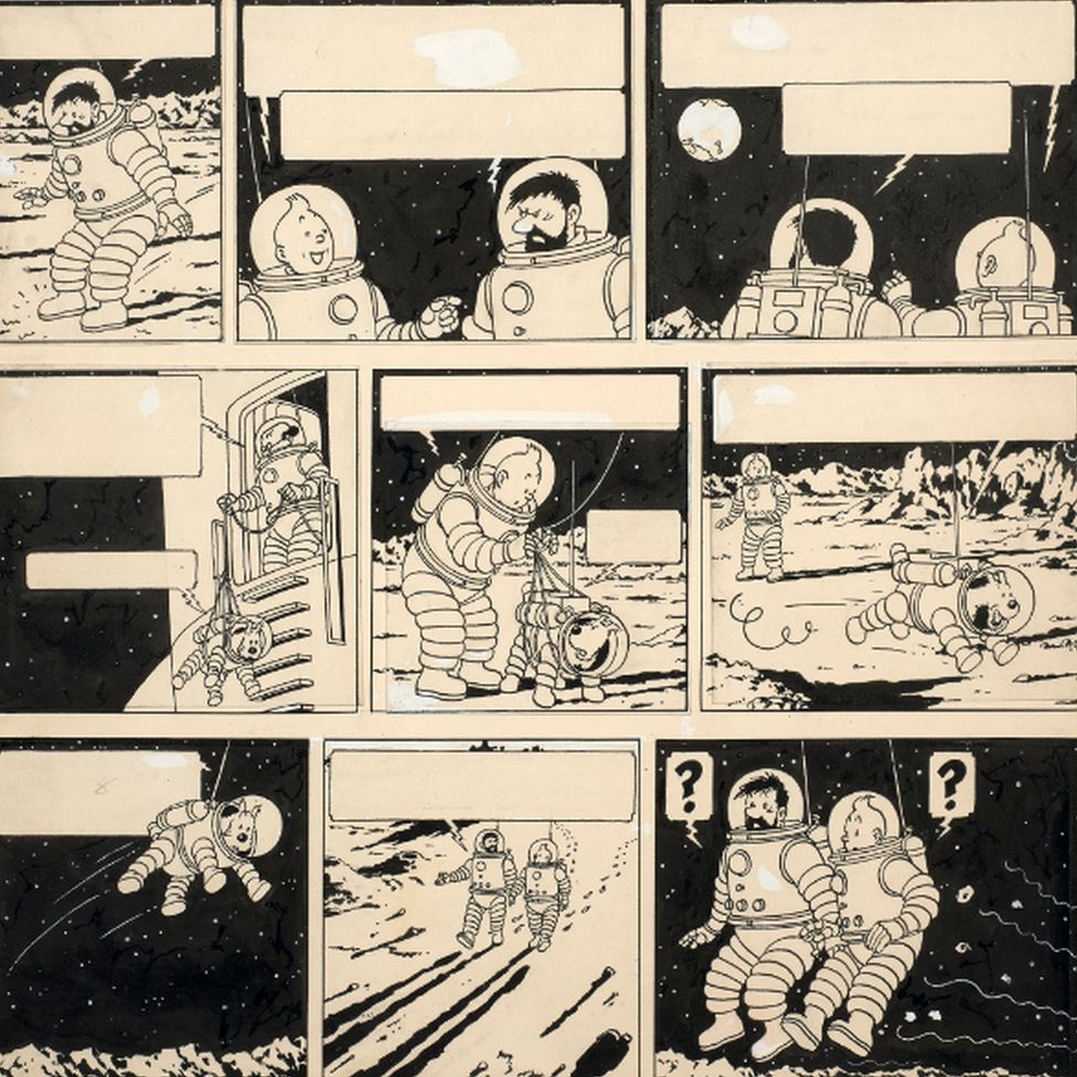 Tintin drawing sold for €1.55m by Artcurial auction house in Paris