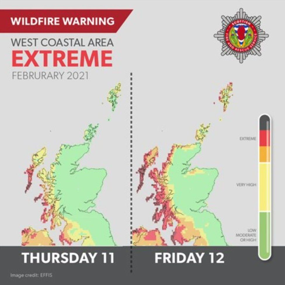 Wildfire warning as firefighters tackle Benbecula blaze _116902052_ccf446fd-bf02-44b3-bc1b-6c225b20cd27
