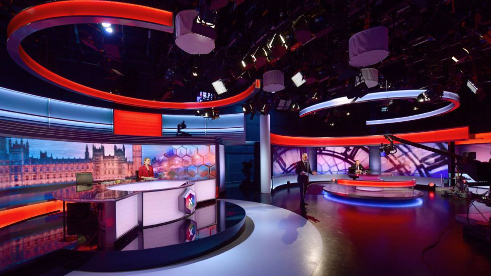 The BBC's general election studio