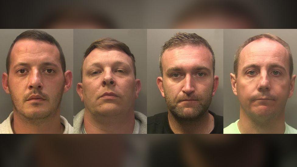 Steven Gorry, Gareth Elliott, Miles Bishop and Robert Caulson