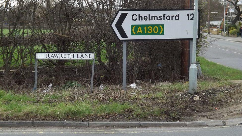 Rawreth Lane in Rayleigh, Essex.